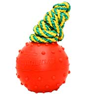 Water Floating Safe Rubber Bull Terrier Ball - 2 1/3 inch (6 cm)
