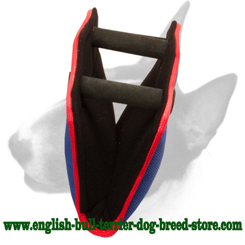3 hard handles bite builder for training English Bull Terrier puppies