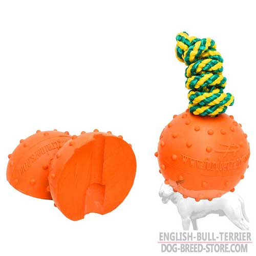 Bull Terrier Ball with Ribbed Surface