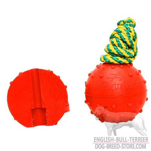 Water Floating Rubber Bull Terrier Ball for Playing