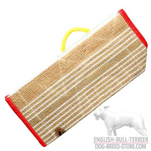 Durable Jute Bull Terrier Bite Sleeve Cover with Comfy Handle