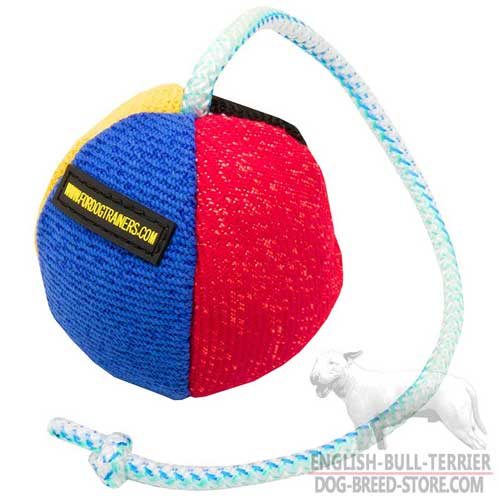 Colored Surface French Linen Bull Terrier Bite Toy
