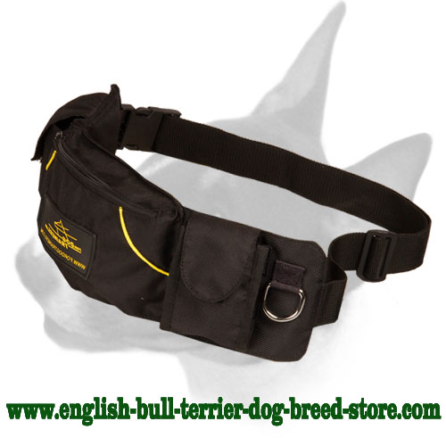 English Bull Terrier Pouch for Keeping Treats