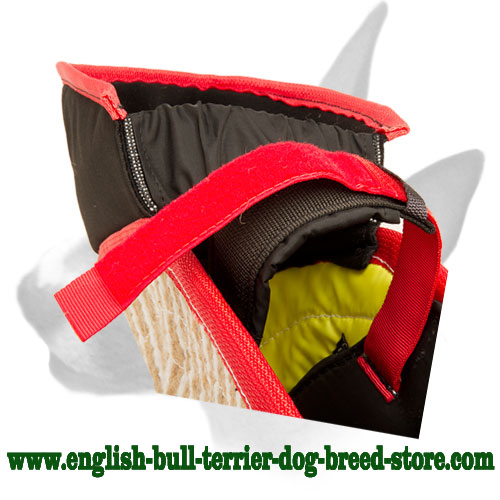 English Bull Terrier strong Jute bite protection sleeve with soft interior