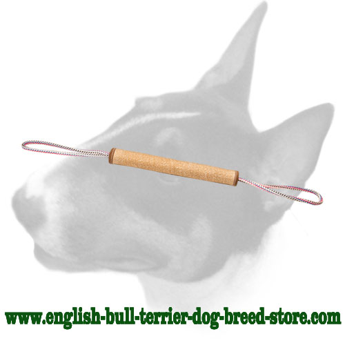 Durable Jute bite tug for training English Bull Terrier puppies
