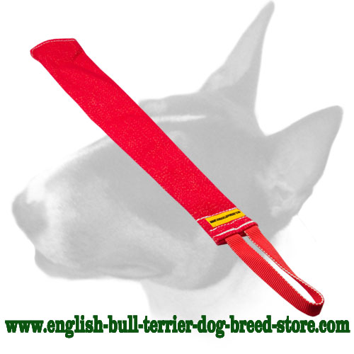 Durable puppy bite rag made of French linen for English Bull Terrier prey drive training