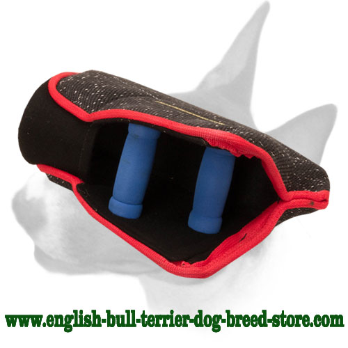 3 hard handles bite builder sleeve for training English Bull Terrier young dogs
