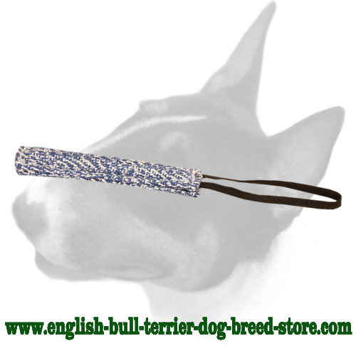 French linen English Bull Terrier bite tug for training puppies
