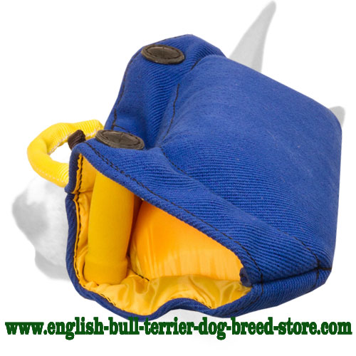 Soft and strong bite builder for training  English Bull Terrier puppies