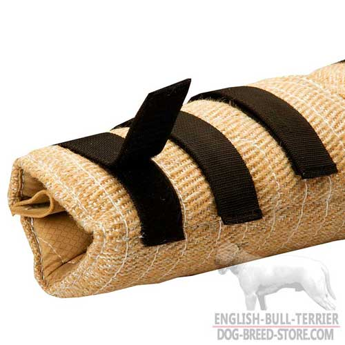 Velcro Closure to Fit Arm Snug on Jute Bull Terrier Bite Sleeve