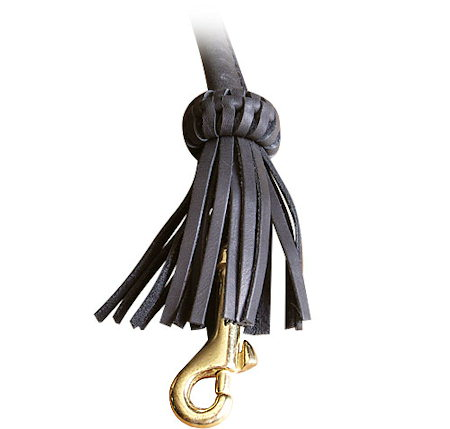 Snap Hook on Leather Dog Leash for Bull Terrier