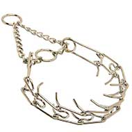 """Like a Mama's Pinch"" Bull Terrier Dog Prong Collar 1/10 inch (2.3 mm)"