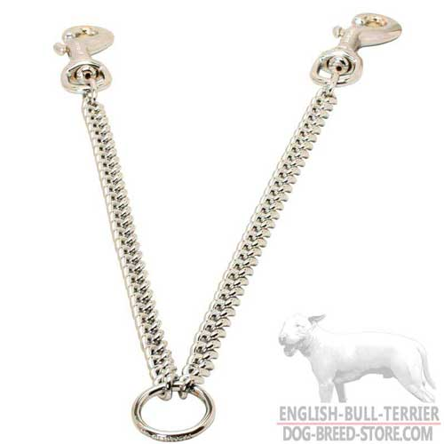 Walking Chrome Plated Bull Terrier Coupler