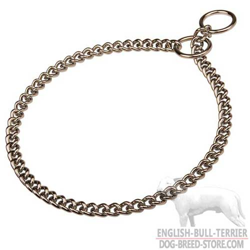 Bull Terrier Choke Collar with Strong O-Rings