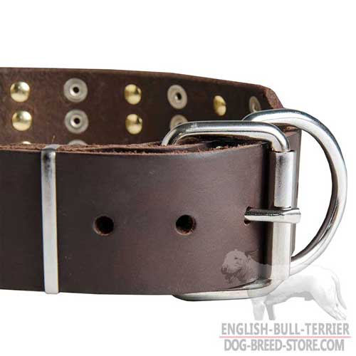 Belt-type rustproof buckle of dog leather collar