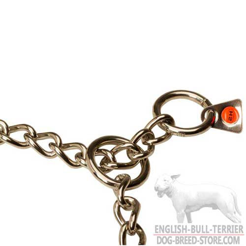 O-Rings on Bull Terrier Choke Collar