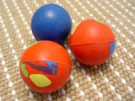 Bright Colored Rubber Bull Terrier Ball