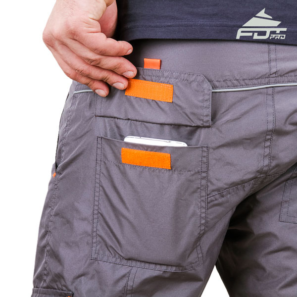 Comfy Design Professional Pants with Useful Side Pockets for Dog Trainers