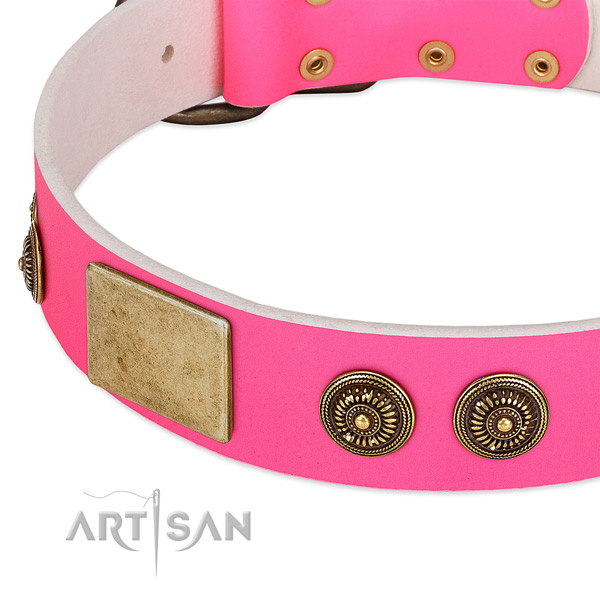 Best quality dog collar handmade for your stylish pet