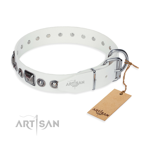 Best quality leather dog collar crafted for comfy wearing