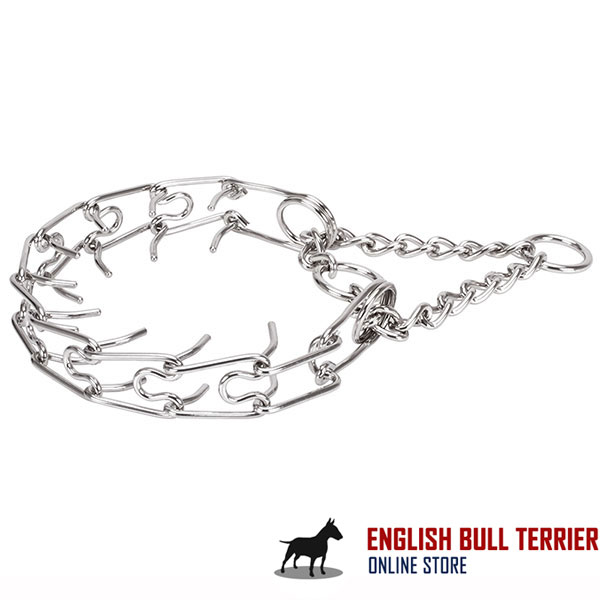 Strong stainless steel dog pinch collar for large pets