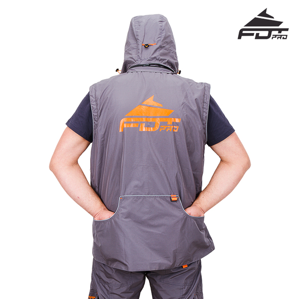 Reliable Dog Training Suit Grey Color from FDT Wear