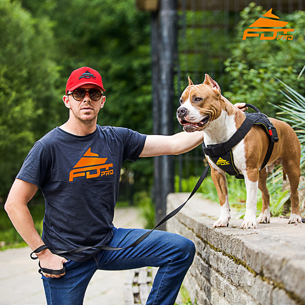Men T-shirt of Durable Cotton with FDT Pro Logo for Dog Trainers