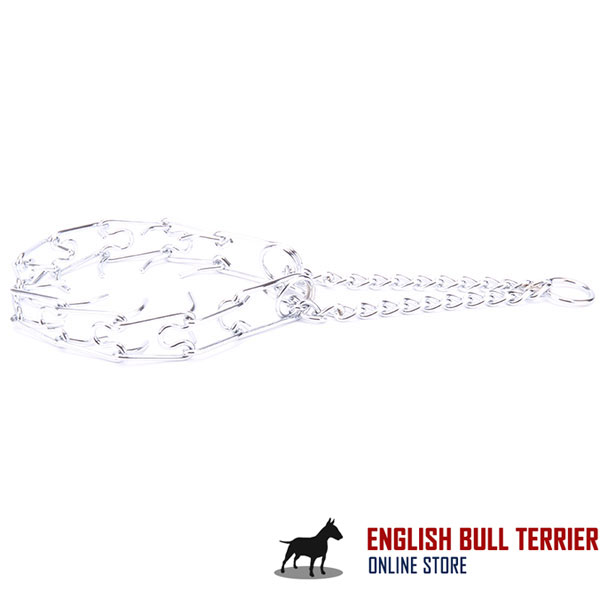 Top-rate chrome plated steel prong collar for obedience training