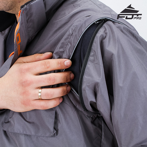 Best quality Zipper on Sleeve for Pro Design Dog Tracking Jacket