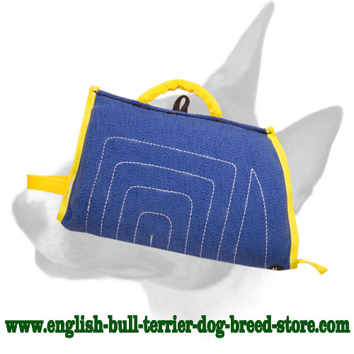 Short French Linen Bull Terrier Bite Sleeve for Puppy Training
