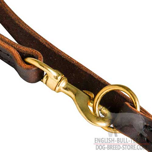 Durable Brass Snap Hook On Multimode Leather Dog Leash