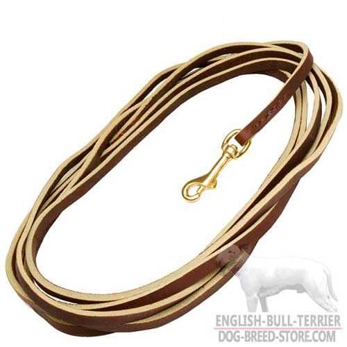 Extra Long Durable Leather Dog Leash For Bull Terrier Training, Tracking and Patrolling