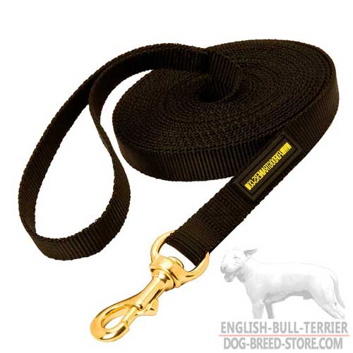 Extra Long Nylon Bull Terrier Leash for Tracking and Training