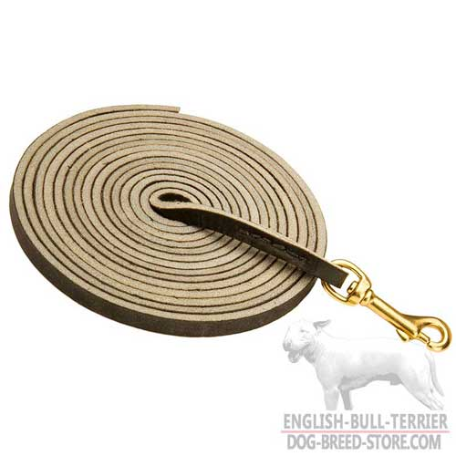 Extra Long Leather Dog Leash For Training, Tracking and Patrolling
