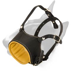 Bull Terrier everyday muzzle with soft padding